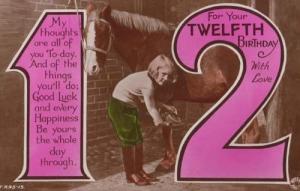 Schoolgirl Wellington Leather Boots Fashion Shoes 12th Birthday Photo Postcard