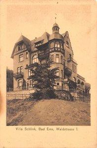 Villa Schlink, Bad Ems Waldstrasse Germany Writing on back