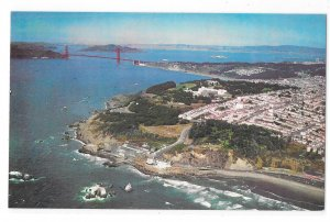 San Francisco CA Aerial View Golden Gate Panorama Gray Line Postcard