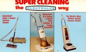Advertisement - Electrolux Vacuum, Polisher, Carpet Cleaner