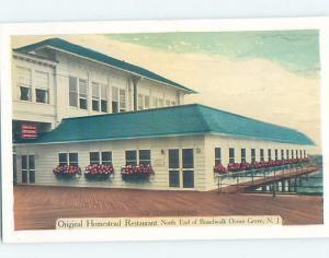 1940's HOMESTEAD RESTAURANT ON BOARDWALK Ocean Grove In Neptune NJ B9234