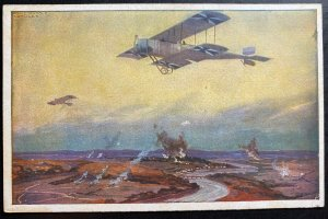 Mint Germany Picture Postcard PPC Air Fight At Sea Scene WWI