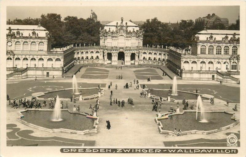 Dresden Germany. Zwinger Wall Pavillion Real Photo Postcard
