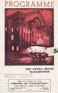 Manchester Opera House Siegfried Wagner Classical Concert Old Theatre Programme