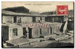 Postcard Old Pottery Ceramic Vallauris pottery factory's drying