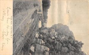 Little Falls New York Profile Rock Street View Antique Postcard K106724