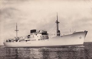 MS Melos Greek Swedish America Line DFDS Ship RPC Postcard