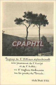 Postcard Modern Landscape of Attica septertionale