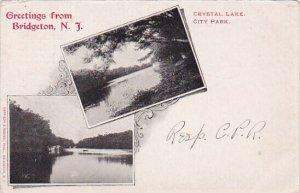 Crystal Lake City Park Greetings From Bridgeton New Jersey