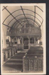 Cornwall Postcard - Interior of Mullion Church     B1186