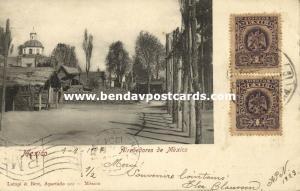 mexico, MEXICO, Alrededores, Street Scene Surroundings (1904) Stamps