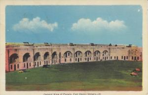 General View of Parade, Fort Henry, Ontario, Canada, 1930-40s