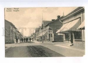 232838 FINLAND HANKO Vuorikatu Vintage postcard