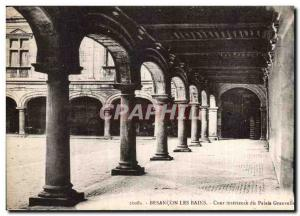 Old Postcard Besancon les Bains Inner courtyard of the Palace Granvelle