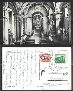Hungary Tihany, church interior, mailed