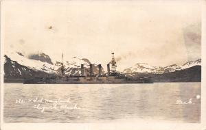 Chignik Alaska~USS Battleship Maryland~Old Fighting Mary~1920s Real Photo~RPPC