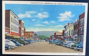Mint USA Color Picture Postcard Cumberland Ave Middlesboro Kentucky