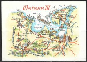 1981 Germany, DDR, Ostsee map, mailed from DDR to CSSR