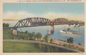 HENDERSON , Kentucky , 1930-40s ; Train on bridge