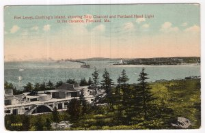 Portland, Me, Fort Levet, Cushing's Island, showing Ship Channel