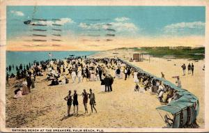 Florida Palm Beach Bathing Beach At The Breakers 1922 Curteich