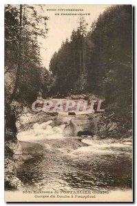 Old Postcard surroundings Pontarlier Doubs Gorges Fourperet