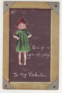 P128 JLs 1908 tucks valentines postcard child blackboard
