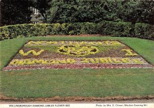 B100614 wellingborough  diamond jubilee  flower bed  uk