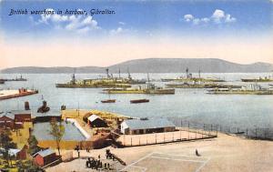 Gibraltar British warships in harbour  British warships in harbour