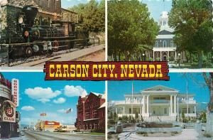 Carson City Nevada Glenbrook Locomotive Capitol Nugget Casino  NV Postcard