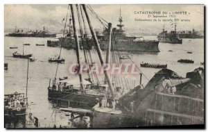 Postcard Old Boat clearing Liberty Disaster turret 305 back