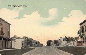LPS71 KLEMME Iowa Main Street Town View Postcard