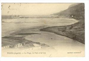 TENES, Algeria, PU-1921   La Plage, le Port et le Cap