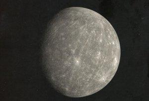 Planet Mercury Messenger Spacecraft Kuiper Crater Photo Postcard