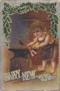 New Year, New Years 1909 creases near right bottom edge, some corner wear and...