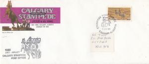 CALGARY , Alberta , Canada ; STAMPEDE Cover 1980