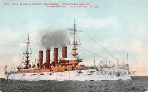 US Armored Cruiser California Military Battleship Unused