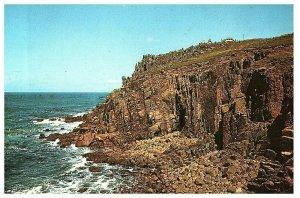 Hôtel & Cliffs Terres Fin Angleterre Carte Postale