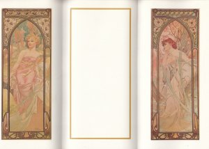 Mucha ; Evening Reverie & Morning Awakenung , Tri-Fold , 1989 ; VANCOUVER , B...