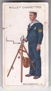 Cigarette Card  Wills Signalling Series No. 47 Heliograph 4