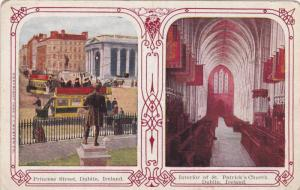 Princess Street and Interior of St. Patrick's Church, Dublin, Ireland, 1900-1...