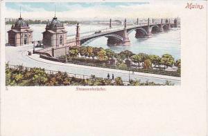 Bridge, Strassenbrucke, Mainz (Rhineland-Palatinate), Germany, 1900-1910s