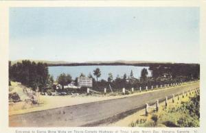 Entrance to Camp Bona Vista on Trans-Canada at Trout Lake, North Bay, Ontario...