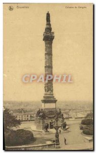 Postcard Old Bruxelies the Congress Column