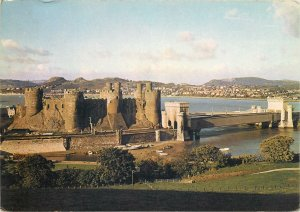 England Postcard Conway Castle South Front from across Gyffin Brook and Railway