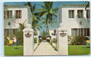 Miami Beach FL Ocean Side Hotel 7135 Harding Ave 1950s Vintage Postcard D78