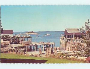 Pre-1980 HARBOR SCENE Beals Island - Near Jonesport Maine ME hp7467