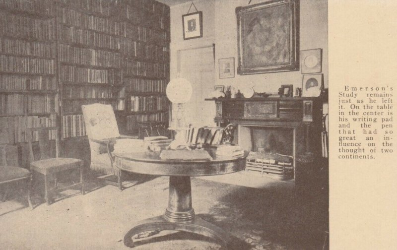 CONCORD, Massachusetts, 1900-10s; Emerson's Study as he left it