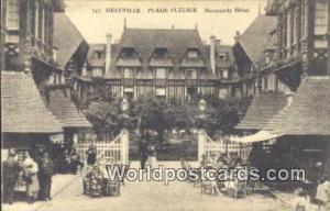 Deauville, France, Carte, Postcard Plage Fleurie, Normandy Hotel Deauville Pl...