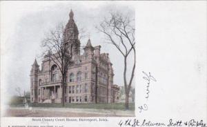 Iowa Davenport Scott County Court House